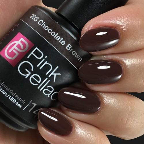 Pink Gellac #203 Chocolate Brown