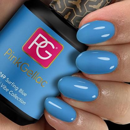 Pink Gellac #269 Surfing Blue