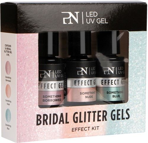 PN Effect Kit 3 pcs - Bridal Glitter Gels
