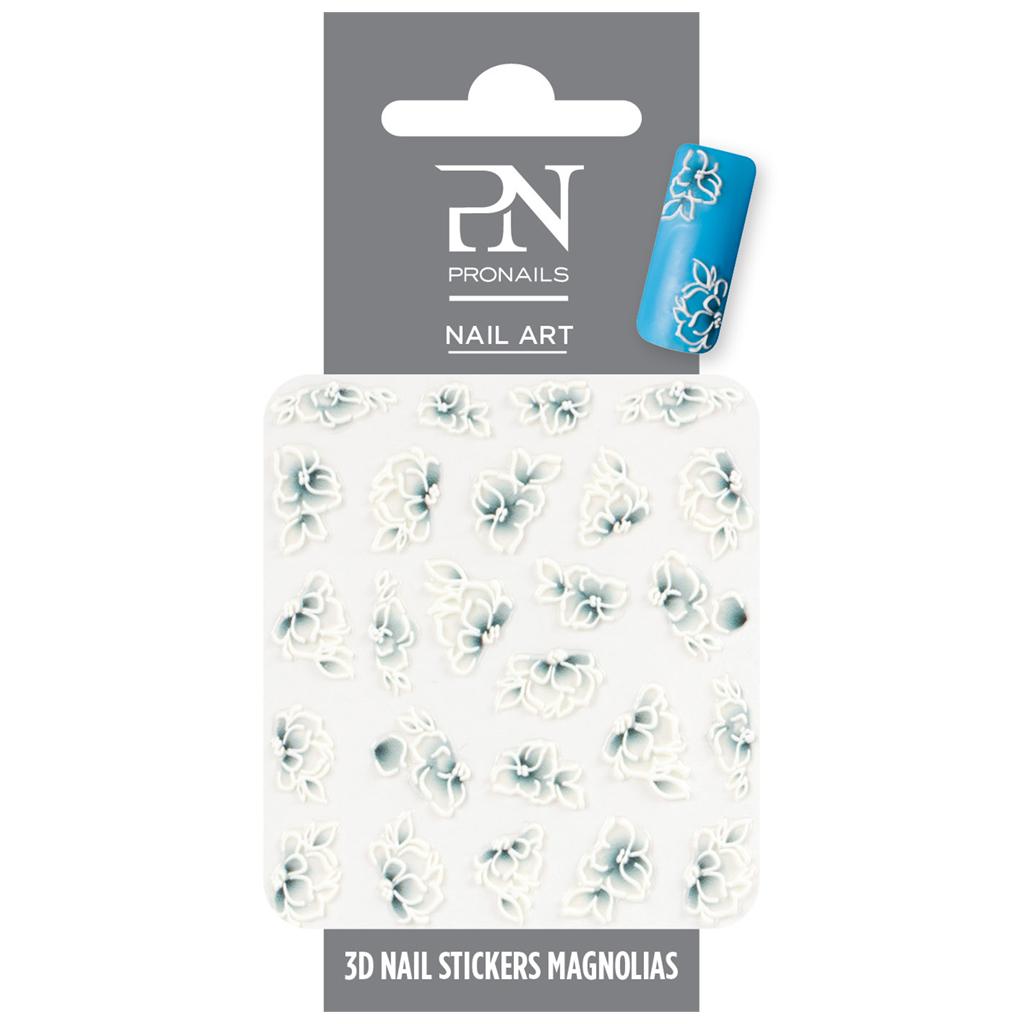 Afbeelding van PN 3D Nail Stickers Magnolias