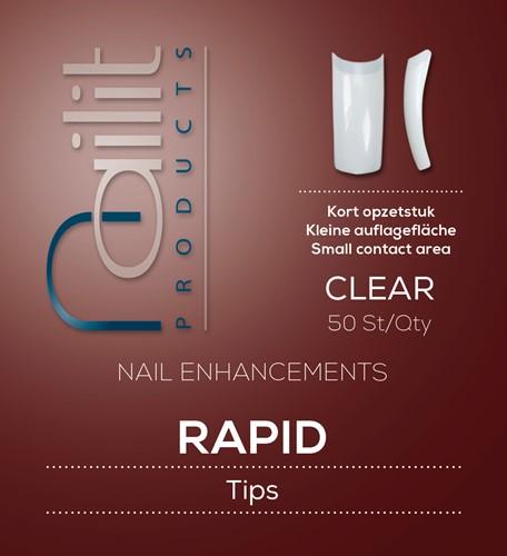 Nailit Refill Rapid Clear  50 st