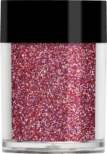 Lecenté Raspberry Holographic Glitter