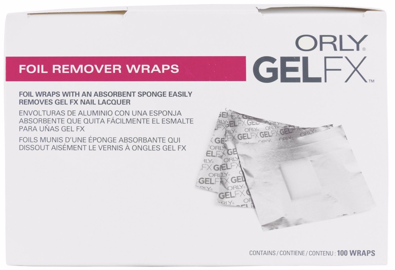 Afbeelding van ORLY Foil Remover Wraps 100 pack