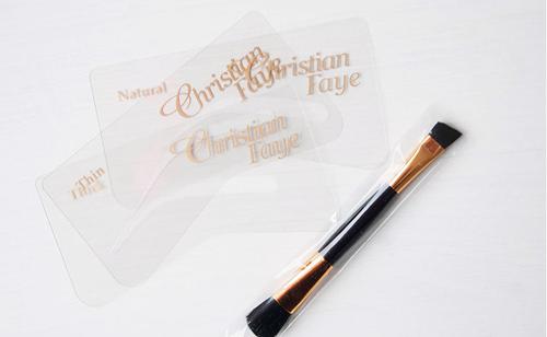 Christian Faye - Wenkbrauwpoeder kwast / stencil set