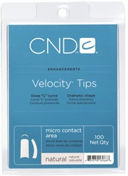 CND™ Velocity Tips - Natural 100 st.