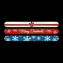 Afbeelding van Kerstvijl - Blauw kerstvlok