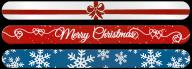 Kerstvijl  - Wit Rood Strik - red ribbon